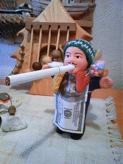 エケコ人形使い方タバコ画像